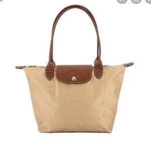 Longchamp Le Pilage - Med, long handle, beige